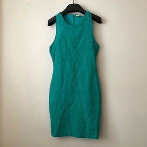 ZARA Green fitted dress
